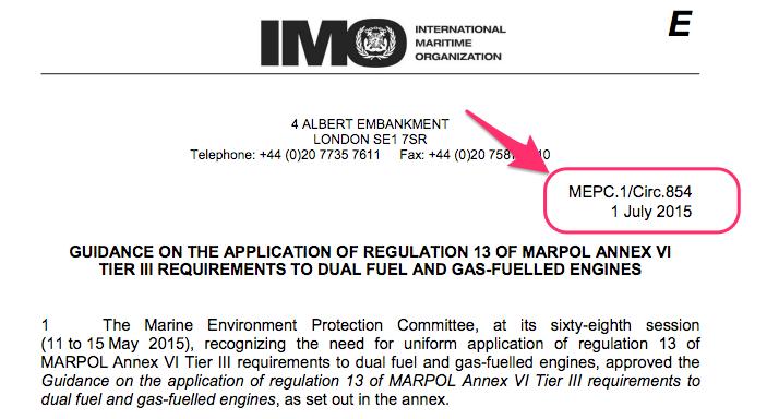 MEPC circular number
