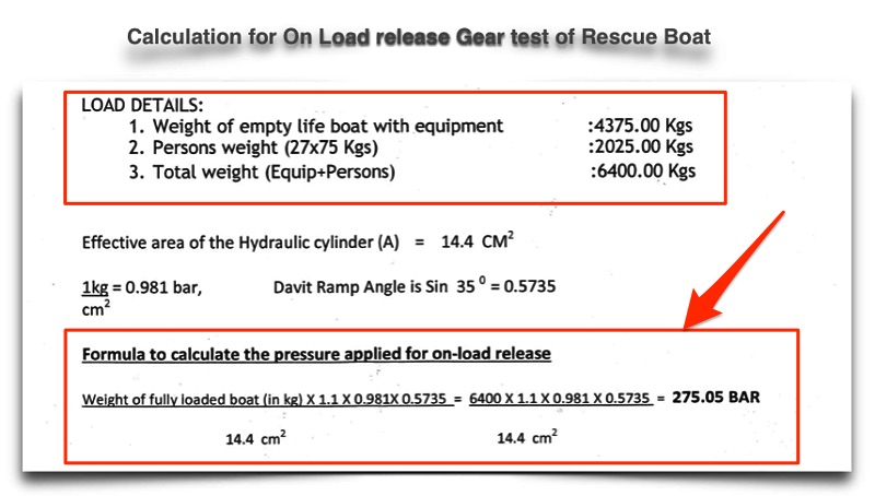 On Load Release gear test calculation