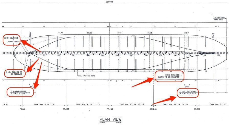Plan view of docking plan made by dock master
