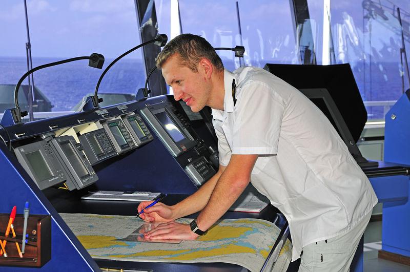 Navigator plotting nav warnings